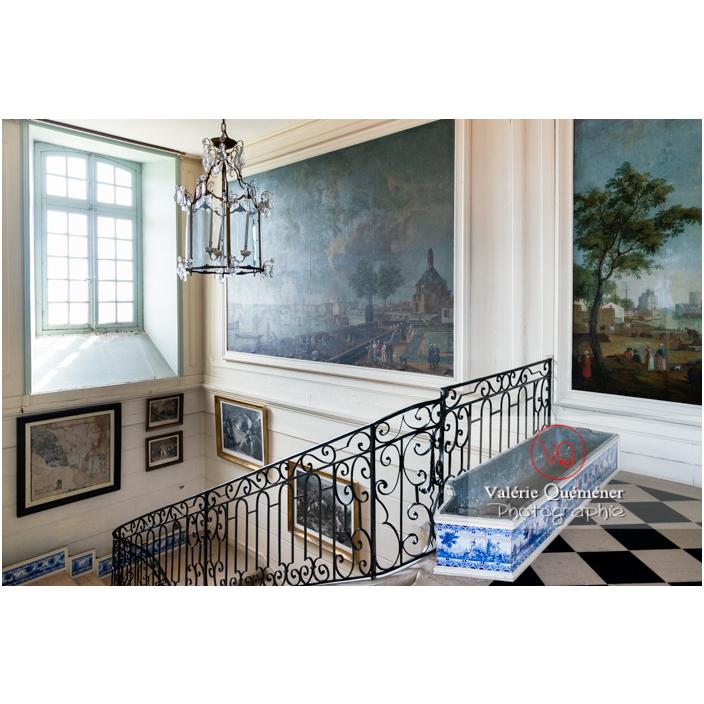 Peintures dans le hall à l'étage du château de Drée (MH) à Curbigny / Saône-et-Loire / Bourgogne-Franche-Comté - Réf : VQFR71-2847 (Q3)