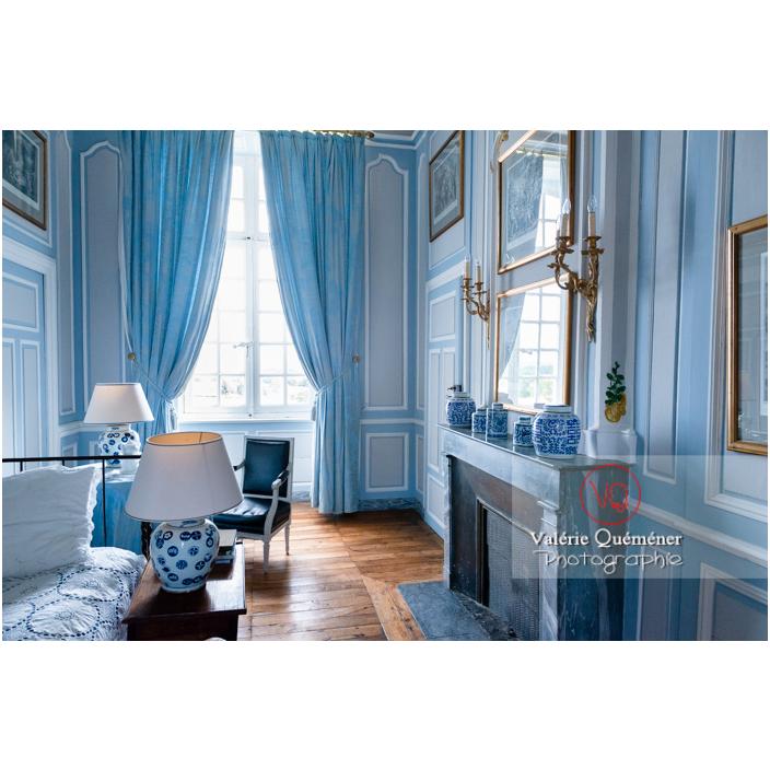 Chambre bleue au château de Drée (MH) à Curbigny / Saône-et-Loire / Bourgogne-Franche-Comté - Réf : VQFR71-2848 (Q3)