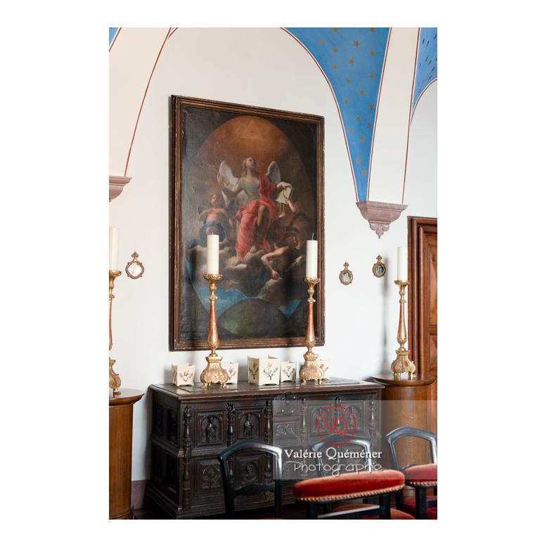 Décoration dans la chapelle au château de Drée (MH) à Curbigny / Saône-et-Loire / Bourgogne-Franche-Comté - Réf : VQFR71-2859 (Q3)