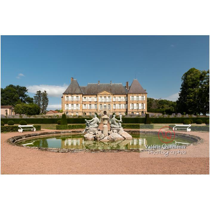 Bassin et fontaine des naïades au jardin remarquable du château de Drée (MH) à Curbigny / Saône-et-Loire / Bourgogne-Franche-Comté - Réf : VQFR71-2894 (Q3)