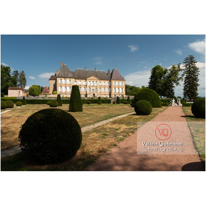 Art topiaire dans le parc du château de Drée (MH) à Curbigny / Saône-et-Loire / Bourgogne-Franche-Comté - Réf : VQFR71-2898 (Q3)