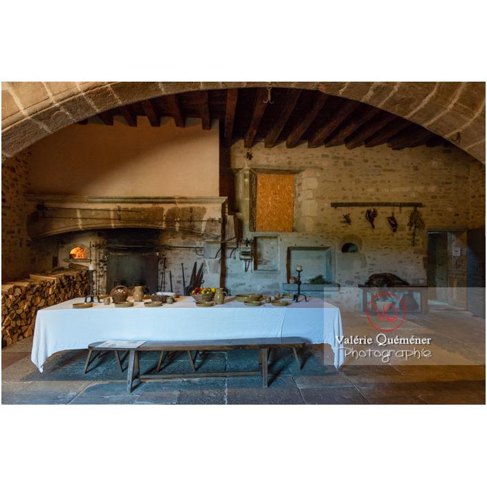 Cuisine du château de Pierreclos / Saône-et-Loire / Bourgogne-Franche-Comté - Réf : VQFR71-3187 (Q3)