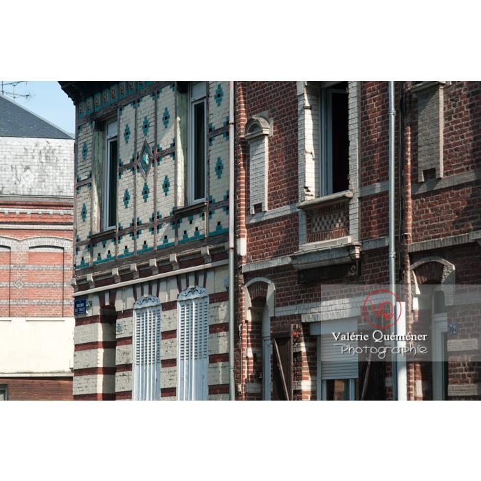 Façades en brique à Amiens / Somme / Hauts-de-France - Réf : VQFR80-0005 (Q2)