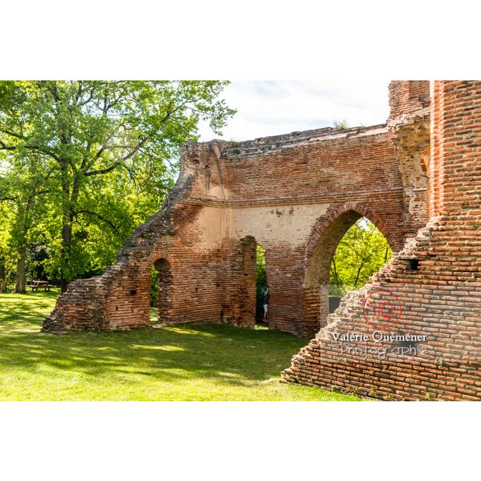 Ruines du château de Saint-Sulpice-la-Pointe en forme de croix / Tarn / Occitanie - Réf : VQFR81-0272- (Q3)