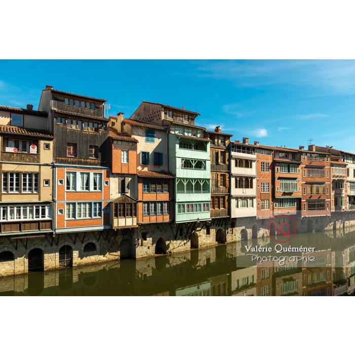 Anciennes maisons de tisserands, tanneurs... bordant la rivière de l'Agout à Castres / Tarn / Occitanie - Réf : VQFR81-0746 (Q3)