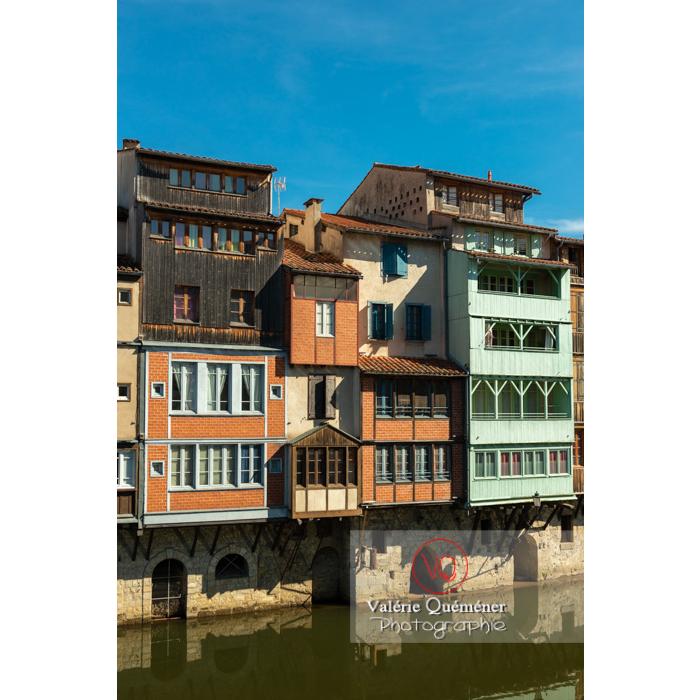Anciennes maisons de tisserands, tanneurs... bordant la rivière de l'agout à Castres / Tarn / Occitanie - Réf : VQFR81-0747 (Q3)