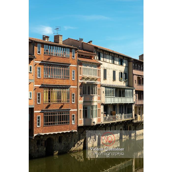 Anciennes maisons de tisserands, tanneurs... bordant la rivière de l'agout à Castres / Tarn / Occitanie - Réf : VQFR81-0749 (Q3)