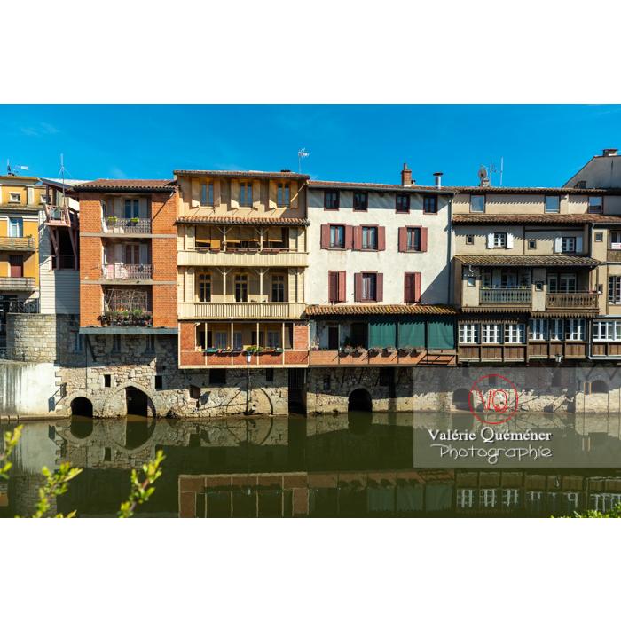 Anciennes maisons de tisserands, tanneurs... bordant la rivière de l'agout à Castres / Tarn / Occitanie - Réf : VQFR81-0750 (Q3)