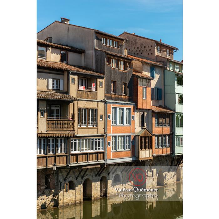 Anciennes maisons de tisserands, tanneurs... bordant la rivière de l'agout à Castres / Tarn / Occitanie - Réf : VQFR81-0754 (Q3)