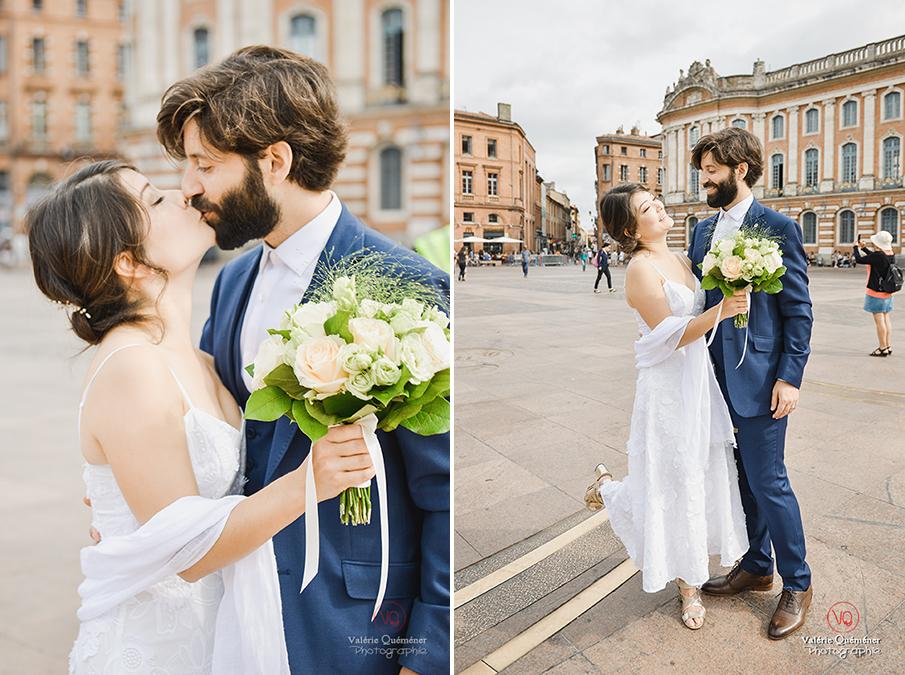 © Valérie Quéméner I Séance couple au Capitole de Toulouse