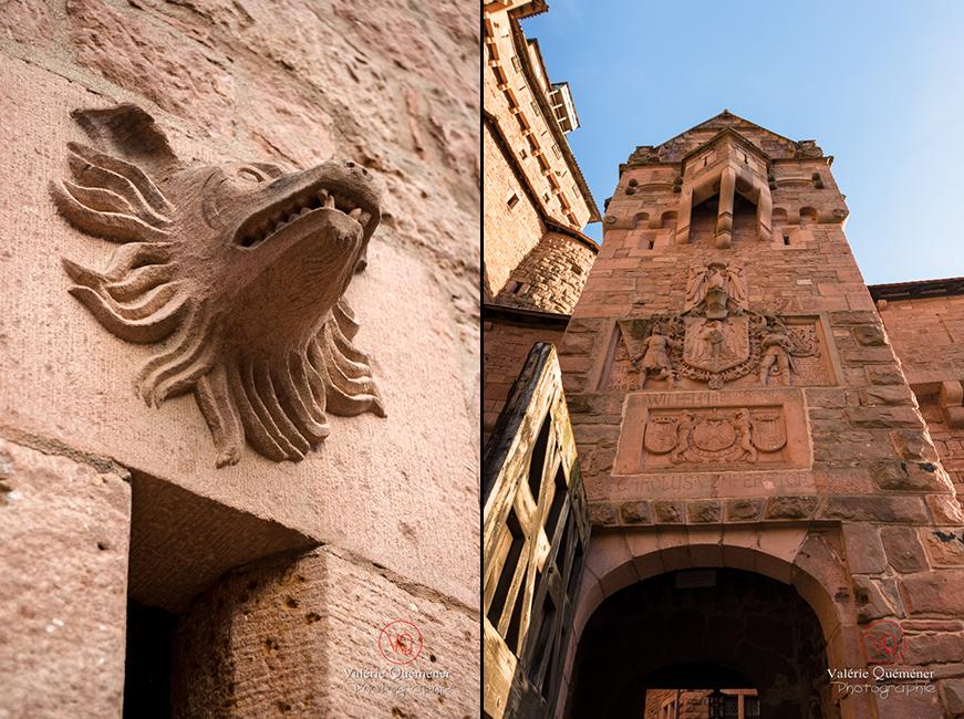 Détail des bas-reliefs au château du Haut-Koenigsbourg | © Valérie Quéméner - Réf : VQFR67-0054-0045