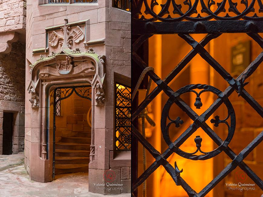 Tour d'honneur du château du  Haut-Koenigsbourg | © Valérie Quéméner - Réf : VQFR67-0066-0073
