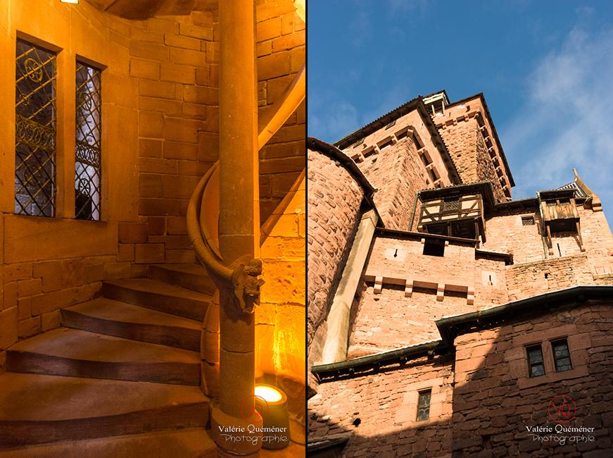 Escalier de la tour d'honneur du château du Haut-Koenigsbourg | © Valérie Quéméner - Réf : VQFR67-0085-0046