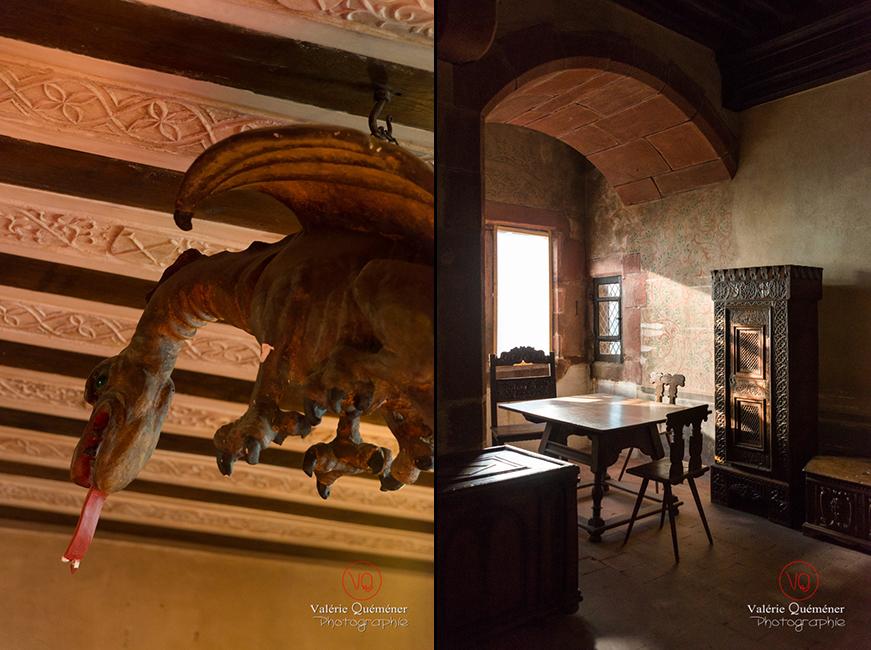 Graoully et oriel au château du Haut-Koenigsbourg | © Valérie Quéméner - Réf : VQFR67-0112-0127