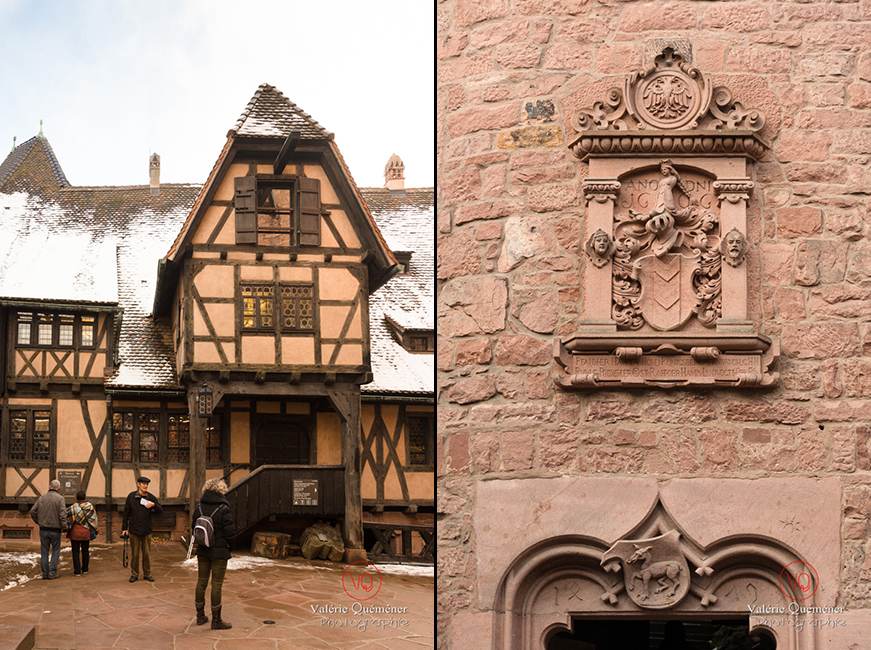 Cour basse au château du Haut-Koenigsbourg | © Valérie Quéméner - Réf : VQFR67-0199 / 0056