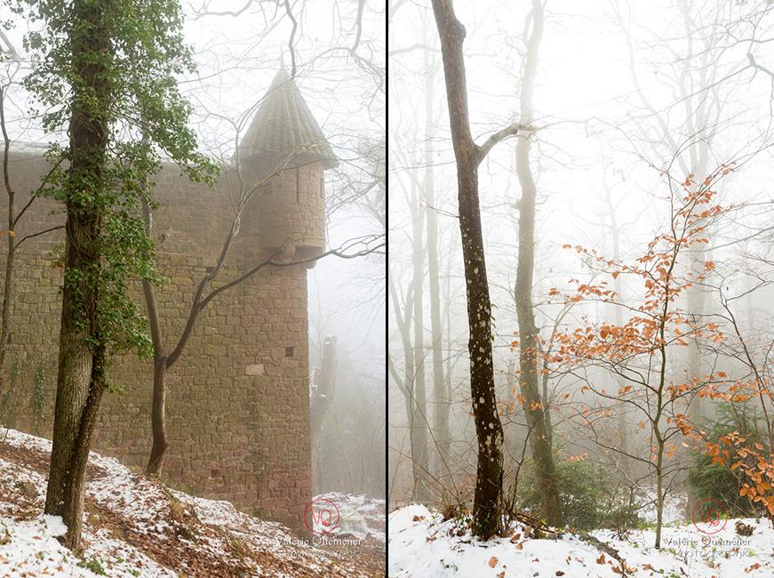 Echauguette de l'enceinte du château du Haut-Koenigsbourg | © Valérie Quéméner - Réf : VQFR67-0213 / 0215
