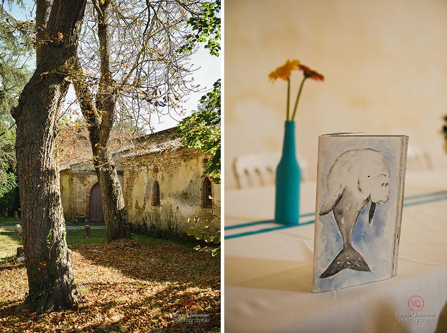 © Valérie Quéméner I Mariage au château de Caumont, dans le Gers