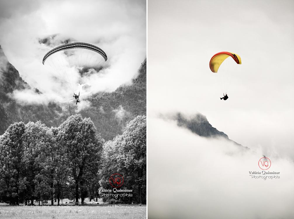 © Valérie Quéméner I Parapente dans la brume - Réf : para-0382-0245