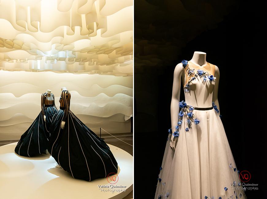 Robes de bal par Hervé L. Leroux et tutu long par Virginie Viard chez Chanel au CNCS à Moulins | © Valérie Quéméner - Réf : VQFR03-0338-0339