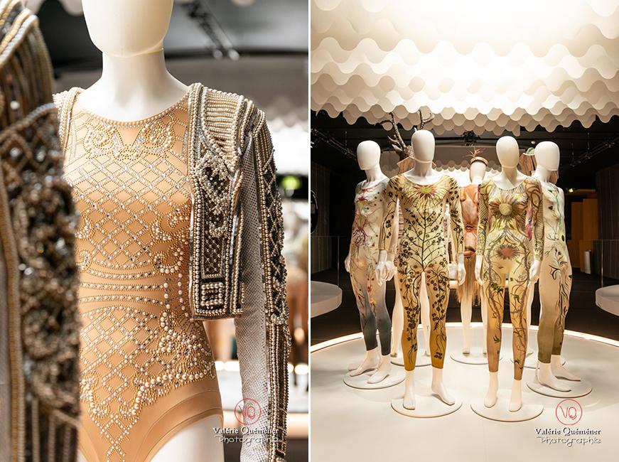 Body perlé d'Olivier Rousteing chez Balmain et inspiration végétale de Maria Grazia Chiuri chez Dior CNCS à Moulins | © Valérie Quéméner - Réf : VQFR03-0371-0364