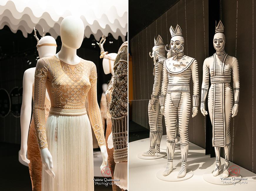 Costumes en perle d'Olivier Rousteing chez Balmain et costumes graphiques de Jérôme Kaplan, CNCS à Moulins | © Valérie Quéméner - Réf : VQFR03-0373-0366