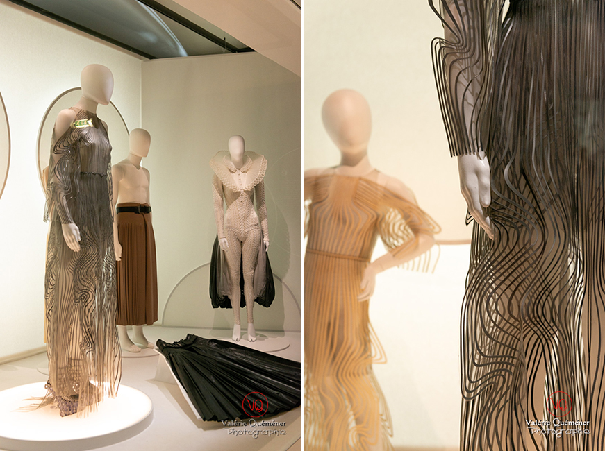 Costumes découpés au laser par Iris Van Herpen et costumes par Hedi Slimane pour Sidi Larbi Charkaoui, CNCS à Moulins | © Valérie Quéméner - Réf : VQFR03-0386-0387