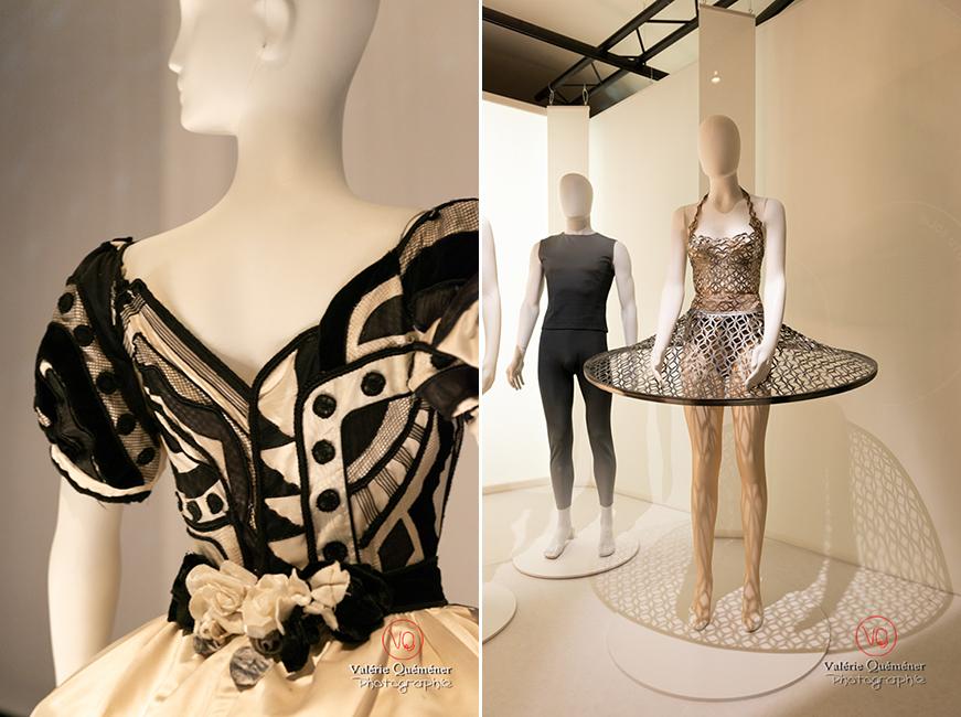 Costumes de Gianni Versace pour Maurice Béjart et d'Iris Van Herpen pour Benjamin Millepied, CNCS à Moulins | © Valérie Quéméner - Réf : VQFR03-0396-0401