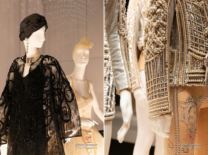 Costumes de Gianni Versace pour Maurice Béjart et détail de costume en perle d'Olivier Rousteing chez Balmain, CNCS à Moulins | © Valérie Quéméner - Réf : VQFR03-0398-0372