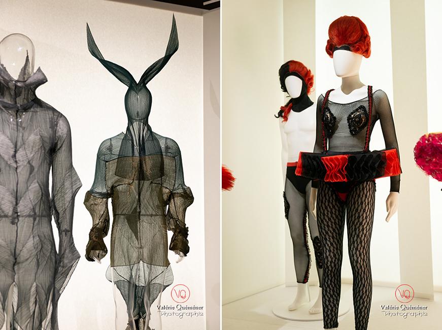 Costumes d'Issey Miyake pour William Forsythe et tutu fantaisiste rouge et noir, CNCS à Moulins | © Valérie Quéméner - Réf : VQFR03-0400-0407