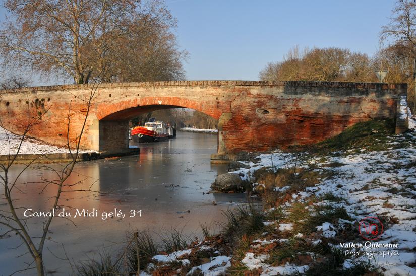 Canal du Midi gelé . Photo © Valérie Quéméner
