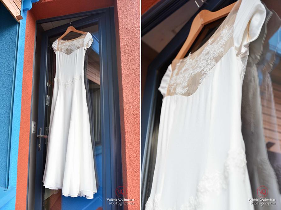 Détail robe de mariée . Photo © Valérie Quéméner