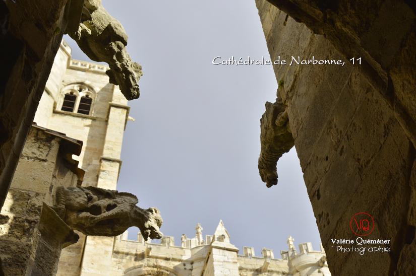 Gargouilles de la cathédrale de Narbonne . Photo © Valérie Quéméner