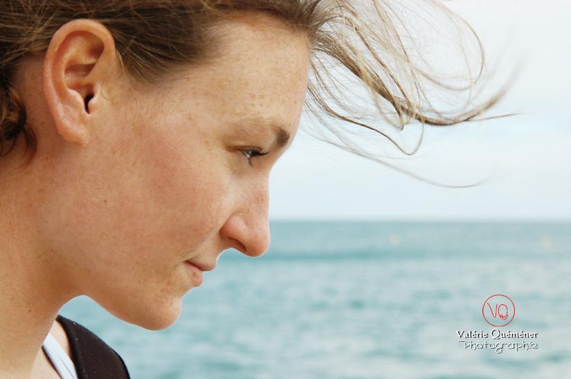 Portrait à la plage . Photo © Valérie Quéméner