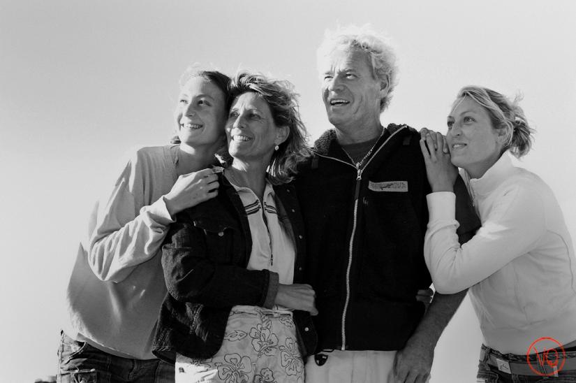 Photo de famille à la plage . Photo © Valérie Quéméner