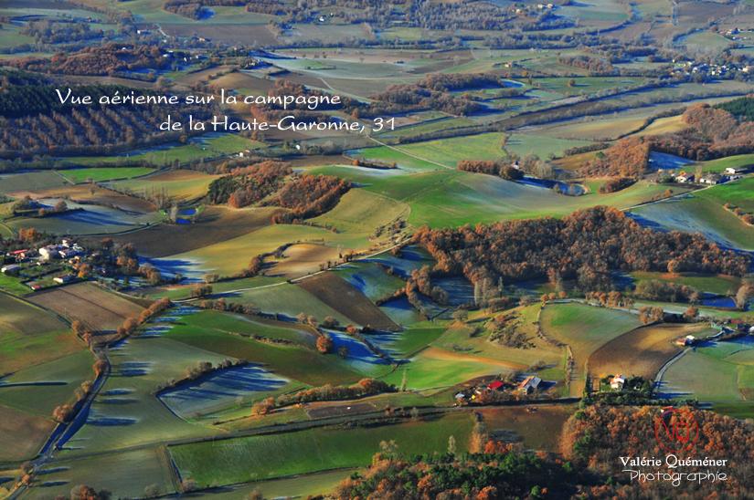 Vue aérienne de la campagne en Haute-Garonne | © Valérie Quéméner